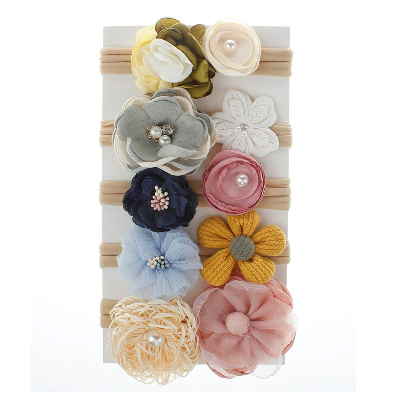 1pc Baby Cute Girls All Kinds Of Fllowers Design Headband Headwear Apparel Photography Prop Party Gift