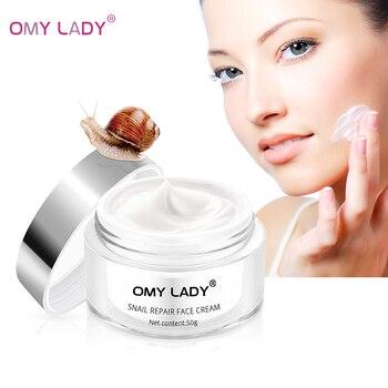 OMY LADY Snail Cream Moisturizing Face Repair Anti Aging Essence Whitening Wrinkles Firming Skin Care 50g