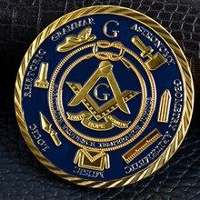 1 шт европейские масонские коллекционные монеты позолоченный