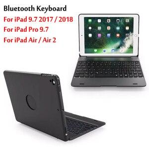 Топ с откидной клавиатурой для iPad 9,7 2017 / 2018 5-го 6-го поколения беспроводной Bluetooth чехол-клавиатура для iPad Air / Air 2 / Pro 9,7