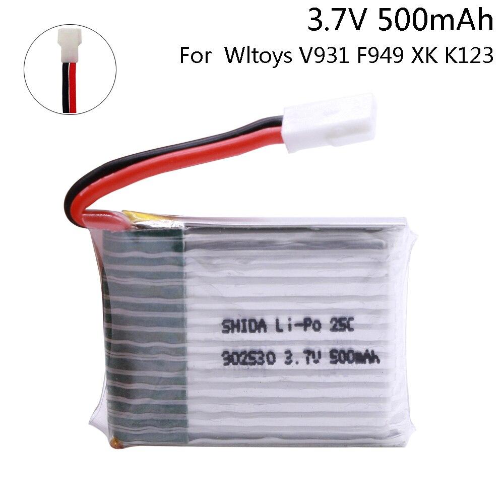 146.0руб. 31% СКИДКА|1 шт. 3,7 V 500 мА/ч, 25C LiPo Батарея для Wltoys V931 F949 XK K123 6Ch Запчасти для радиоуправляемого вертолета 1S 902540 3,7 V для V931 F949|Детали и аксессуары| |  - AliExpress