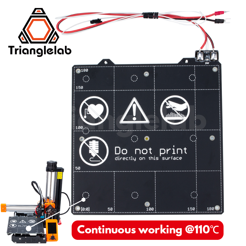 TriangleLAB 24V PRUSA MINI 3d Printer Hot Bed Heated Bed Up To 110°C Continuous Heated Bed