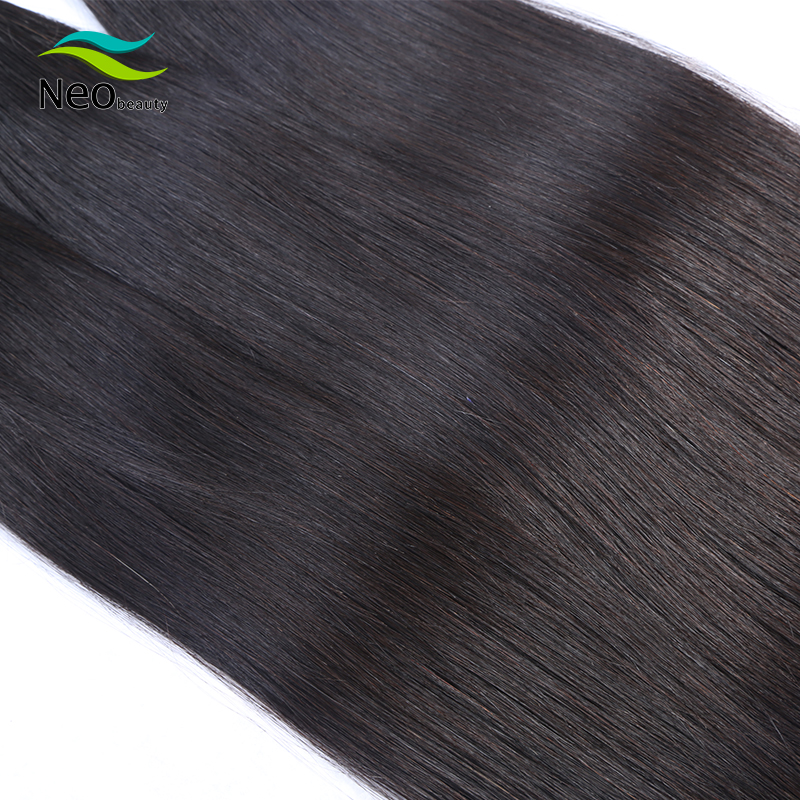 10A Brazilian Straight Hair Bundles 8-40 Inch With Lace Closure Virgin Human Hair 3 Bundles Middle/Three/Free Part Hair