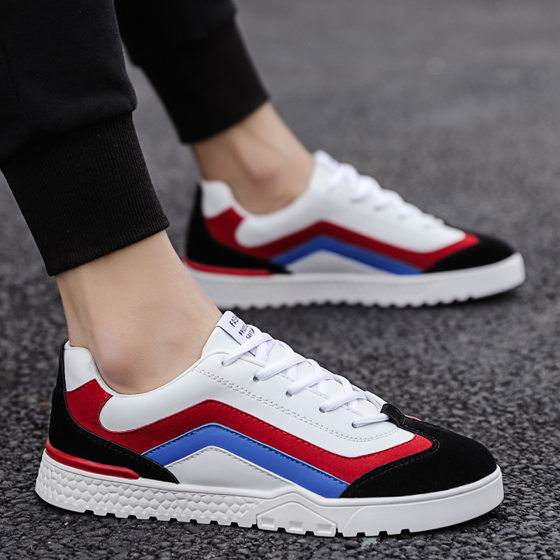 Tide Shoes Color Matching Trend Board Shoes Men Casual Shoes Fashion Casual Outdoor Lightweight Board Shoes High Quality Leisure