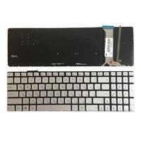 Nuevo teclado ruso para ASUS N751 N751J N751JK N751JX Con Teclado retroiluminado para ordenador portátil RU plateado