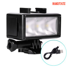 Ultra Bright 30M Waterproof Underwater LED High Power Flash Light For Gopro Canon SLR Cameras Fill Lamp Diving Video Lights Moun