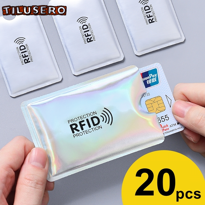 Anti Rfid Wallet Blocking Reader Lock Bank Card Holder Id Bank Card Case Protection Metal Credit Card Holder Aluminium Z008