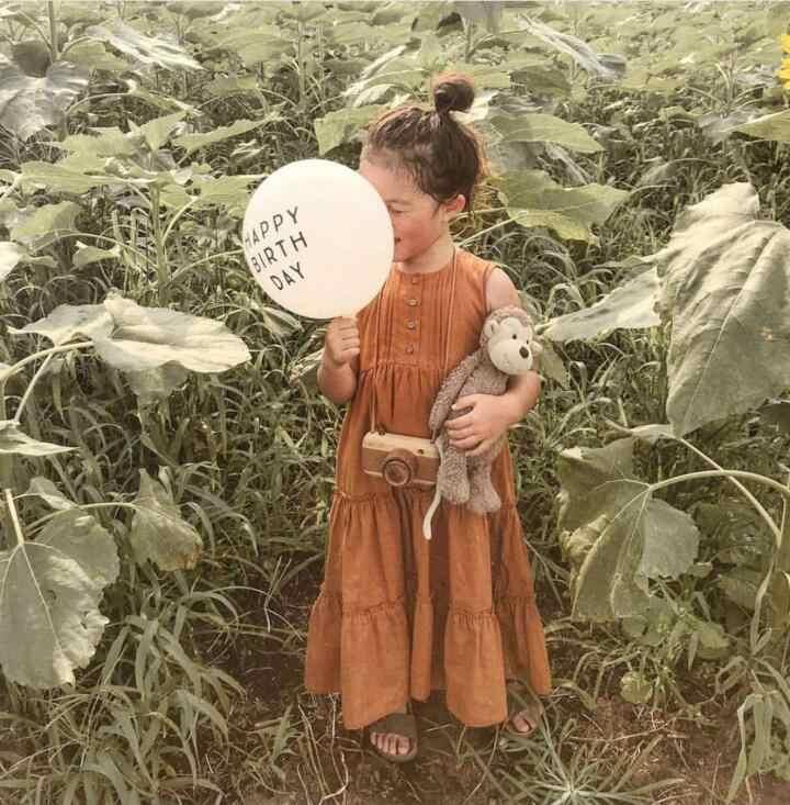 ベビー夏 2020 固体女の子幼児カジュアルドレス綿リネンノースリーブプリンセスドレス