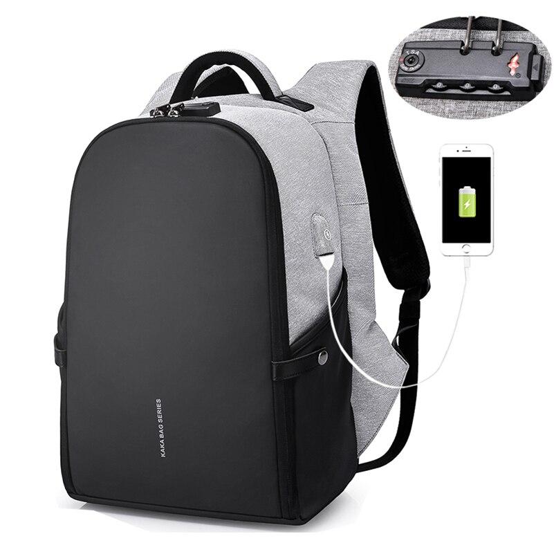 Men Anti Theft Backpack 15.6 Inch Laptop Backpacks Teenage Schoolbag Waterproof Large Capacity Student Bag Male Women Mochila
