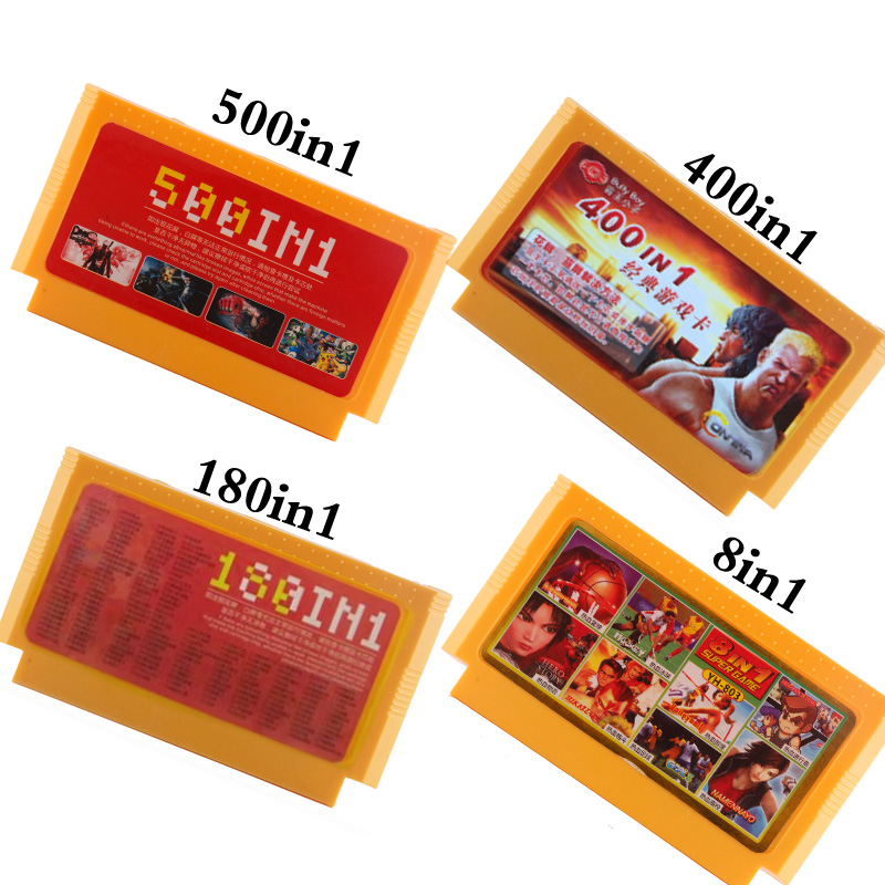500 In 1 Game Cartridge Video Games Memory Cards 180 400 In 1 8 Bit 60 Pins Console For Nintend  Game Classic FC Game Cards 8in1