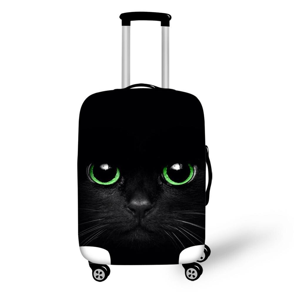 HaoYun Protective Suitcase Cover Black Cats Pattern Elastic Dustproof Luggage Cover Kawaii Animal Waterproof Luggage Accessories