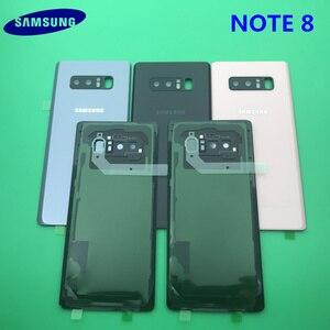 Image 5 - Note8 tam konut Case arka kapak + ön ekran cam Lens + orta çerçeve Samsung Galaxy not 8 için N950 N950F komple parçaları
