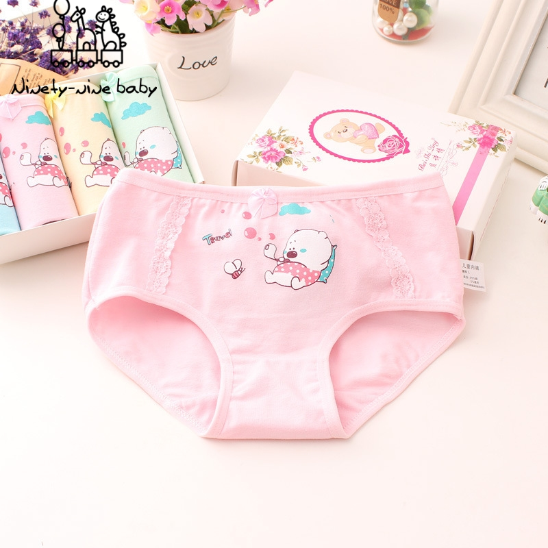 6Pcs/pack Baby Girl Panty Adorable Cartoon Printed Underwear Kids Cotton Comfortable Panties For Girls Breathable Underpants