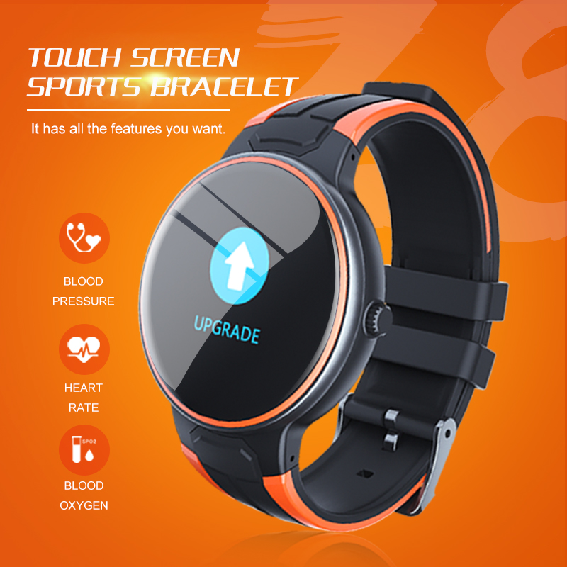 New Z8 Smart Bracelet Watch for Androi/and iOS Phones 2019 Waterproof,Fitness Tracker Watch with Pedometer Heart Rate Monitor -Orange/Black