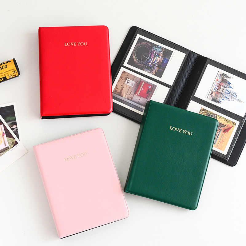 Albumy ze zdjęciami albumy fotograficzne do Fujifilm Instax Mini 8 Film Polaroid Mini natychmiastowy obraz schowek na okulary 64 kieszenie