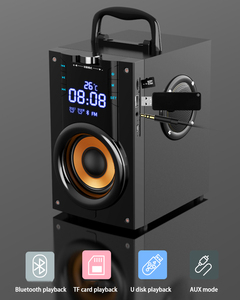 Image 4 - 2200mAh 4.2 Wireless Bluetooth Speaker Outdoor LED Display 3D Surround Stereo Subwoofer Player Radio Alarm Clock TF FM AUX Card