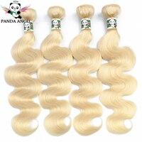 Panda 613 Blonde Bundles Body Wave 4PCS Brazilian Blonde Hair Weave Bundles 100% Remy Hair Extensions For Black Women 10 28Inch