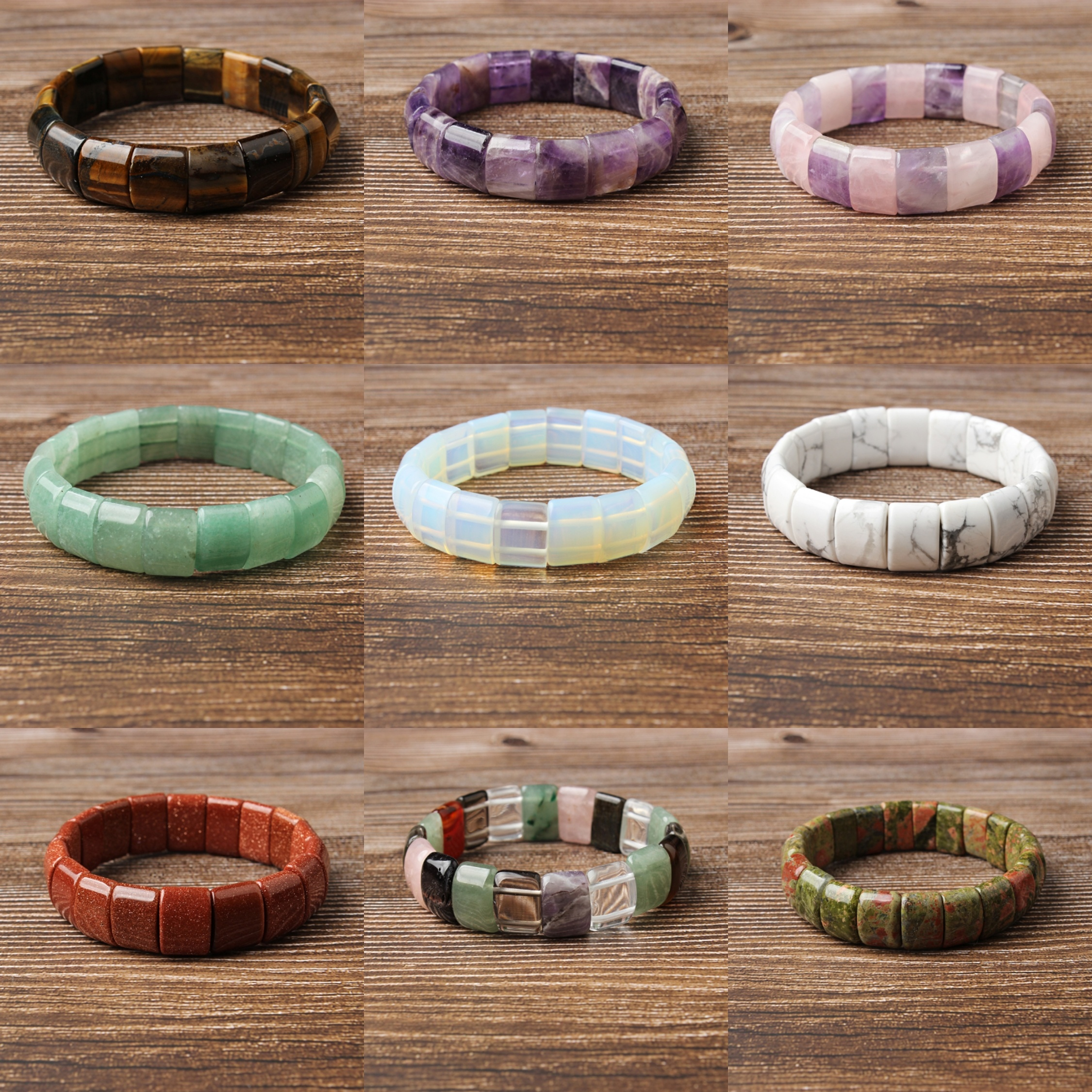LanLi 10x12mm natural jewelry Rose Crystal stones loose beads Bracelet Charms Yoga men and Women meditation amulet