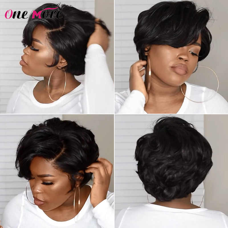 Eine Weitere Pixie Cut Perücke Kurze Bob Pixie Cut Menschliches Haar Perücken Maschine Gemacht Für Schwarze Frauen Brasilianer Remy Gerade menschliches Haar Perücken