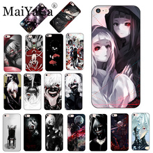MaiYaCa Black and White Anime Tokyo Ghouls Pattern phone Case for iPhone 8 7 6S Plus X xs max xr 5S SE 11pro case shell
