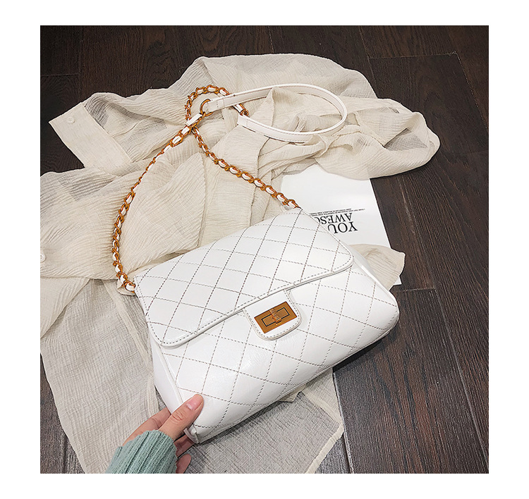 New Arrival Bag Women's 2019 New Style Korean-style Large Small Shoulder Bag Rhombus Chain Textured Shoulder Bag Saddle