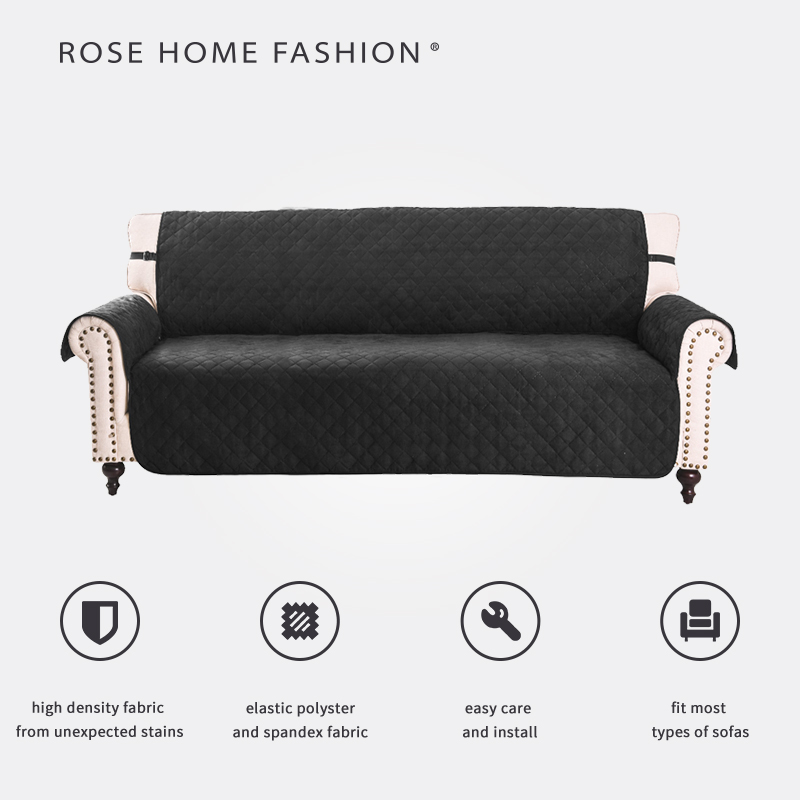 Solid Color Elastic Sofa Cover for Living Room Modern Suede Strech Sofa Slipcover Couch Cover Furniture