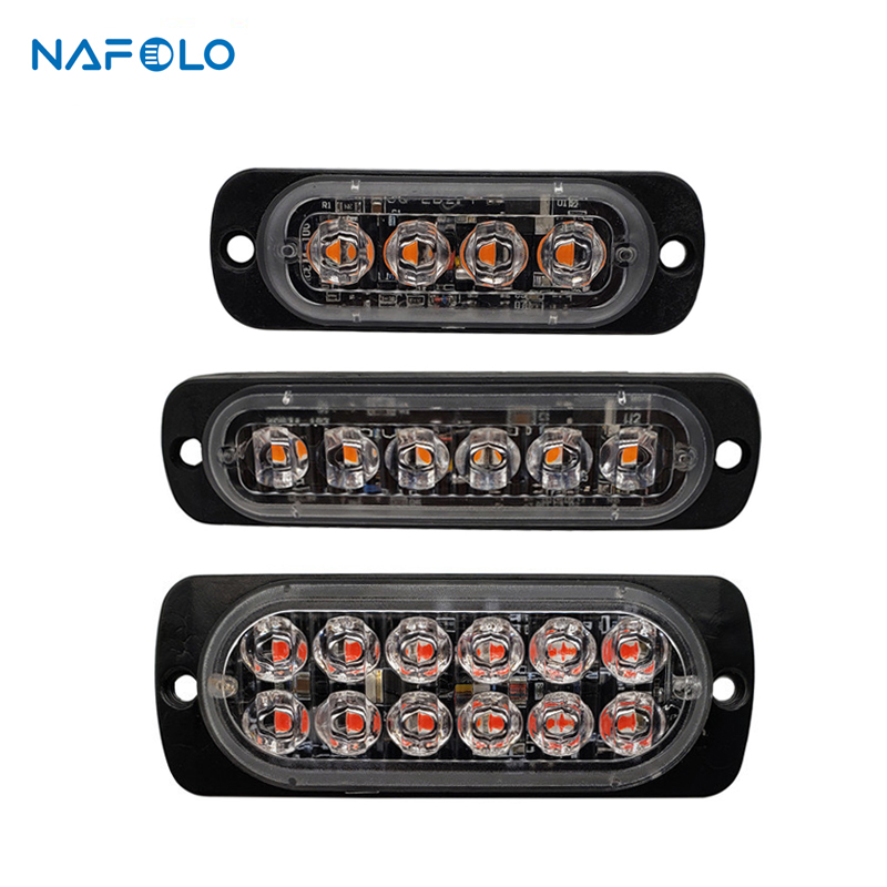 Ultra-thin Strobe Light Car Motorcycle Truck Emergency Side Marker Warning Lamp Police LED Flasher Car Lights Assembly