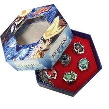 7 pçs/set desenhos animados katekyo hitman renascer sawada tsunayoshi gokudera hayato cosplay traje vongola anel jóias