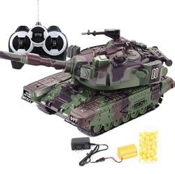 Военный военный боевой танк, большой интерактивный игрушечный автомобиль с дистанционным управлением, с пулями Shoot, модель, электронные игр...