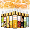 10ml Pure Fruit Flower Aroma Fragrance Oil for Candle Soap Making Strawberry Mango Passion Musk Banana Coconut Oil with Dropper