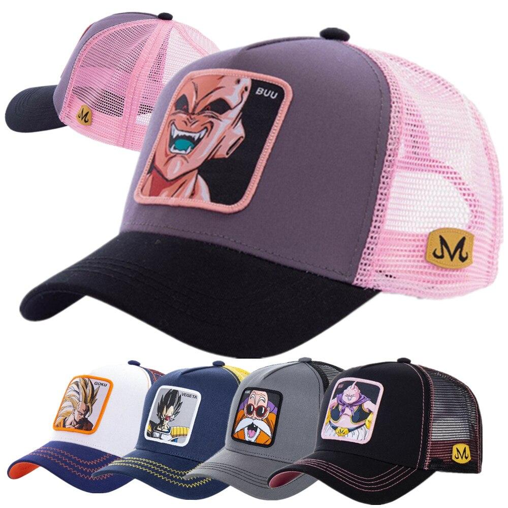 Newest Dragon Ball Hat All 40 Styles Mesh Baseball Cap High Quality Curved Brim Trucker Hat Cap Gorras Casquette Dropshipping
