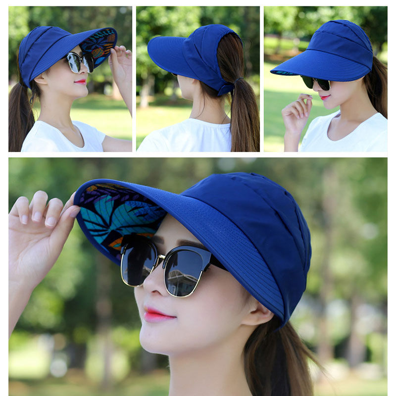Travel Cap Practical Durable Canvas 4 Colors Sun Visors Apparel Sports Hat Beach Sunscreen Cap Fashion Portable Ventilation