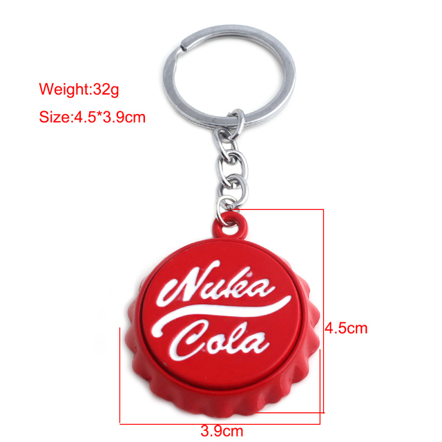 Jeu chaud Fallouts Nuka Cola ouvre-bouteille porte-clés casquette voiture porte-clés porte-clés pour femmes hommes été tire-bouchon amour bière cadeau
