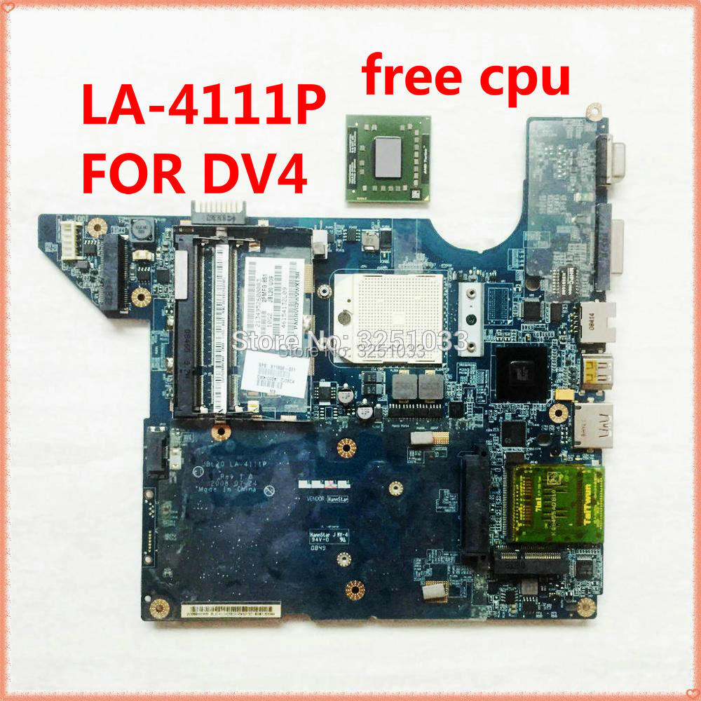 For HP DV4 DV4-1212LA DV4-1220US DV4-1225DX DV4-1322US NOTEBOOK JBL20 LA-4111P Dv4-1413la 511858-001 488238-001 Motherboard
