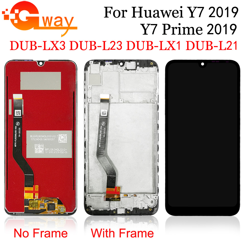 For HUAWEI Y7 2019 LCD Display+Touch Screen Digitizer For Huawei Y7 Pro 2019 / Y7 Prime 2019 DUB-LX3 LX1 L23 L21 LCD + Tools