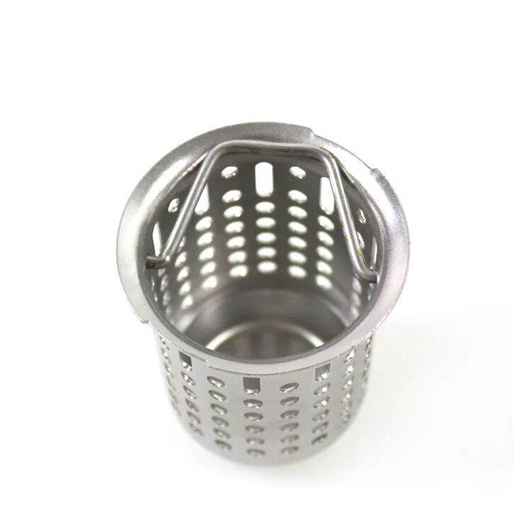 Stainless Steel Drainer Basket Sink Strainer Sewer Filter Screen Pool Floor Drain Filter Sink Basket