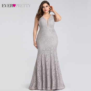 Lace Mermaid Prom Dresses Long 2020 Ever Pretty EP08838 Christmas Holiday Party Sexy V-Neck Elegant Prom Gala Dresses Gowns 2