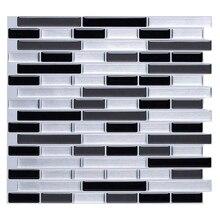 3D Wall Stickers Brick Wallpaper Tile for Kitchen Bathroom Backsplash Anti-Tile Home Decor 28x23.5Cm 3d random design fresh green crystal glass mosaic backsplash pool wall tile bathroom kitchen decor sticker free shipping lsnsj06