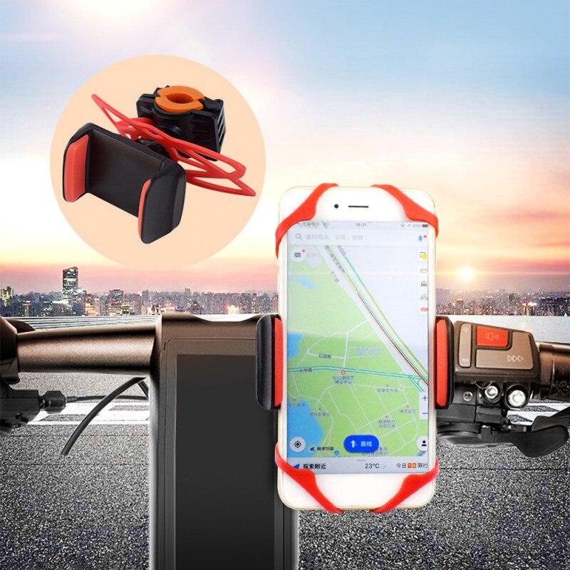 Bicycle Mobile Phone Holder Silicone Anti-Slip Motorcycle/Bike/Bicycle Handlebar Cradle Mount Holder Secure Clip