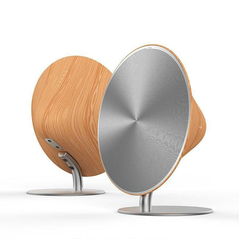 Remax WK altavoz inalámbrico Bluetooth Retro de madera soporte de escritorio NFC superficie táctil Subwoofer Audio en casa para estantería para teléfono Altavoz portátil Bluetooth 4,0 de alta calidad, altavoz inalámbrico con soporte para tarjeta TF, USB, Radio FM, sonido grave estéreo, Subwoofer, altavoz para radiodifusión pública