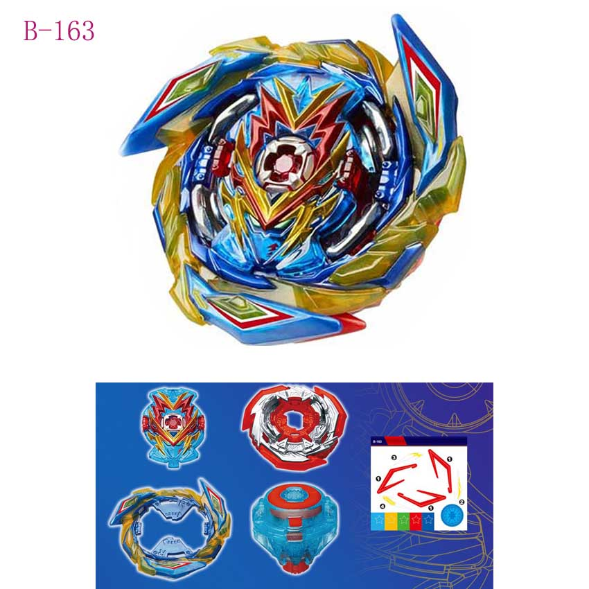Beyblades Super King Gyroscope B-165 Red And Blue Spark Bayblade Burst Launcher Toys For Children Boys B163 B164
