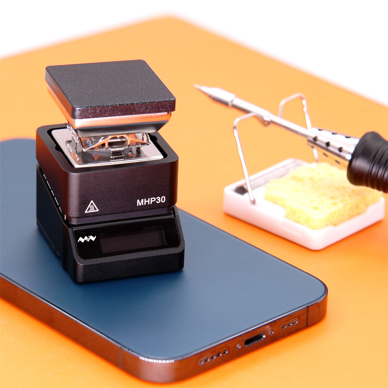 MHP30 Mini OLED Hot Plate Preheater 60W 350℃ Soldering Station Preset Temperature for PCB SMD Heating