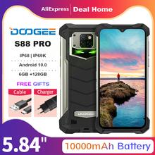 DOOGEE S88 Pro 6 3 #8222 wytrzymały telefon komórkowy IP68 IP69K Smartphone Helio P70 Octa Core 6GB 128GB ROM telefon komórkowy Android 10 0 10000mAh tanie tanio Nie odpinany CN (pochodzenie) Rozpoznawania linii papilarnych Rozpoznawania twarzy Inne 21MP Adaptacyjne szybkie ładowanie