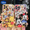 Cartoons Disney for IPhone 11/ XR/ Xsmax /X/Xs/7/8Plus/7/8/SE2/11pro/11promax Mickey Minnie Pooh Phone Case Cartoons Accessories