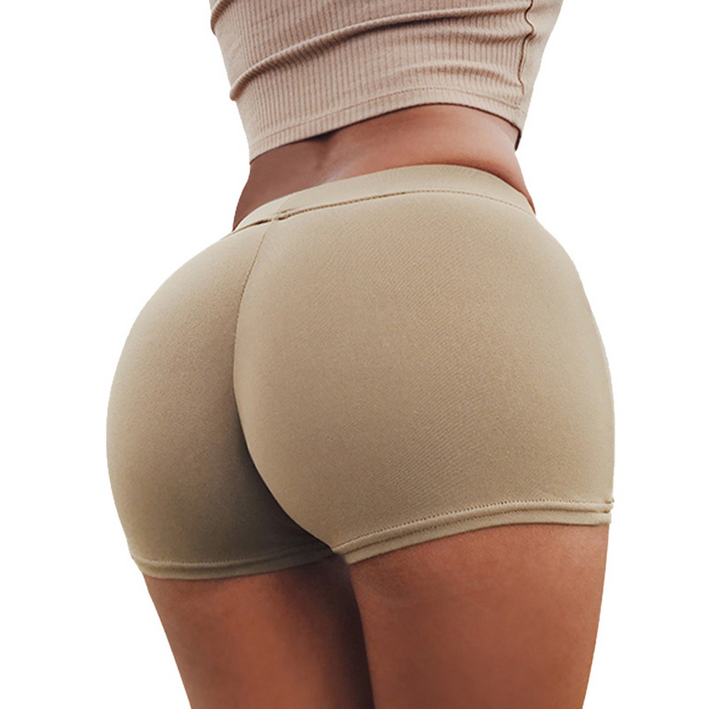 CALOFE 2020 Summer Sexy Shorts Tight Stretch Fitness Sports Wear Skinny Solid Short Pants Breathable Female Push Up Gym Clothing
