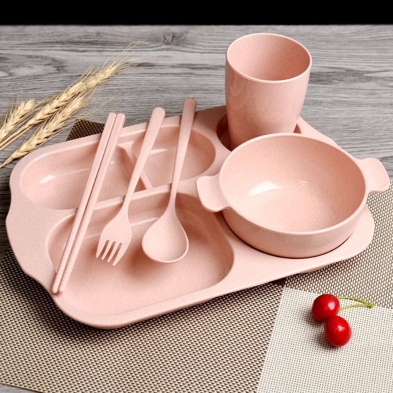 Cute Cartoon Baby Training Plate Kids Feeding Tableware Feeding Bowl Fruit Dishes dishes sets dinnerware dishes and plates sets