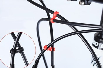 Connectors S-shaped Cable Connectors Palstic Practical and Durable Suitable for Brake Cable ,Derailleur line 4mm&5mm image