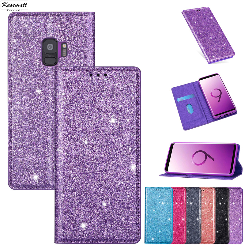 PU <font><b>Leather</b></font> Wallet <font><b>Cases</b></font> For <font><b>Samsung</b></font> Galaxy S20 S10E S6 <font><b>S7</b></font> Edge S8 S9 Plus Note 8 9 10+ Bling Glitter Card Stand <font><b>Flip</b></font> Cover Coque image
