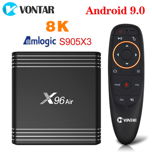 Image 1 - VONTAR X96 Air 4GB 64GB 8K Amlogic S905X3 Smart TV BOX Android 9 9.0 2.4GWifi 1080P 4K Youtube X96Air Set Top Box TVBOX 2GB 16GB