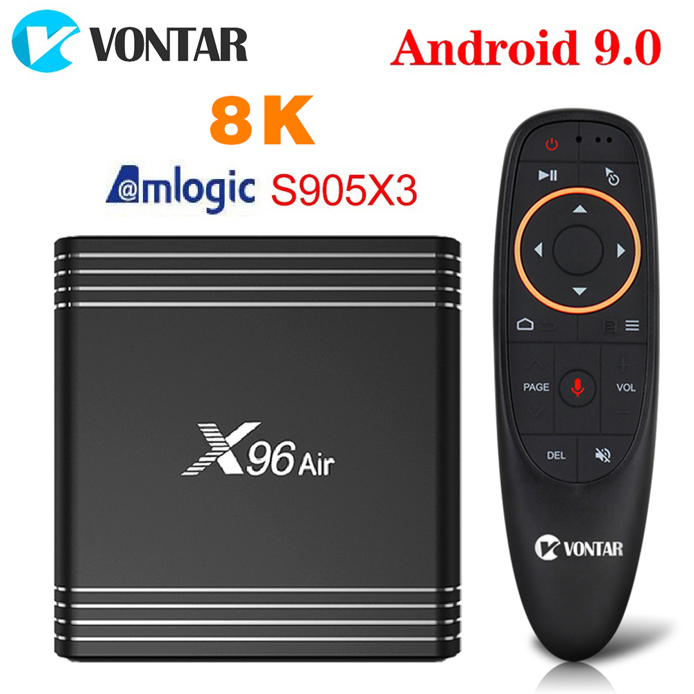 VONTAR X96 Air 8K Amlogic S905X3 Smart TV BOX Android 9.0 2.4G Wifi 1080P 4K Youtube X96Air Set Top Box 4GB 64GB 32GB 2GB 16GB
